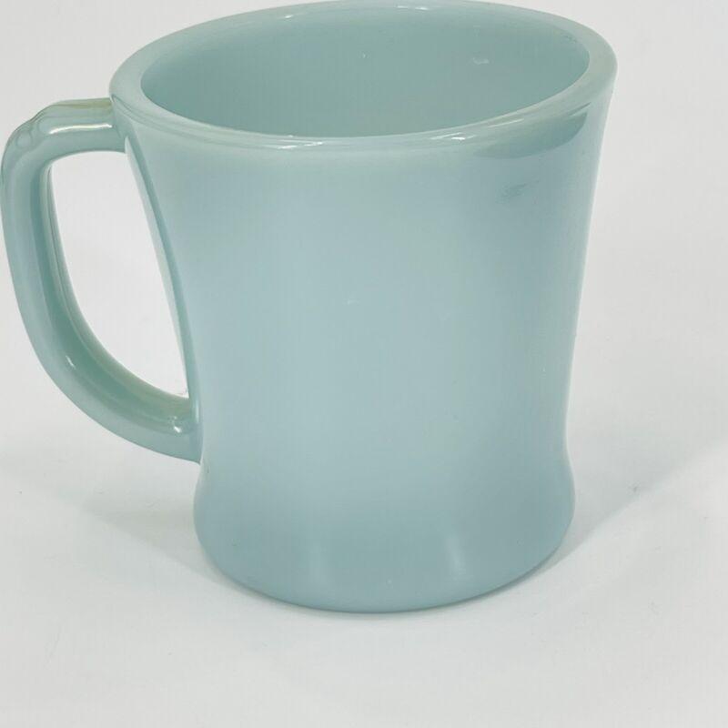 Beautiful Vintage Fire King Delphite Blue Azurite Coffee Cup Mug D Handle