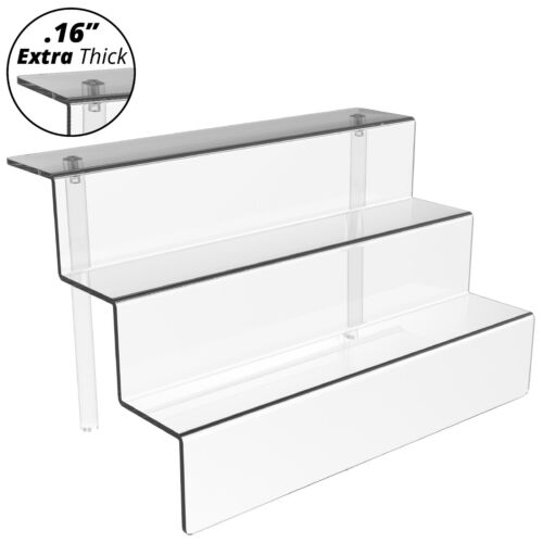 Mammoth Clear Acrylic Display Riser Stand for Merchandise or Figurines