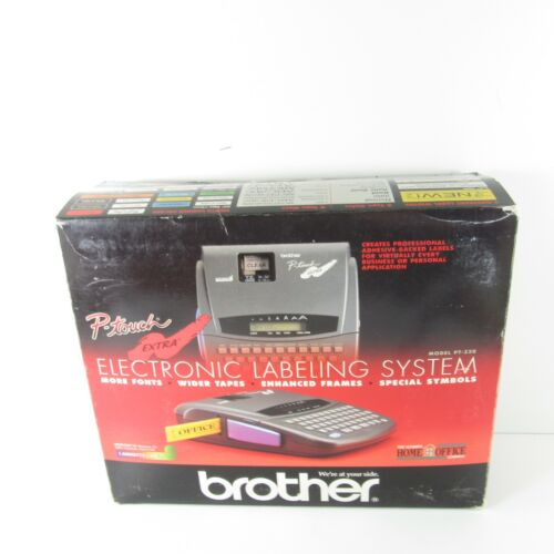 VTG Brother PT-320 P-Touch Extra Electronic Labeling System Made In Japan