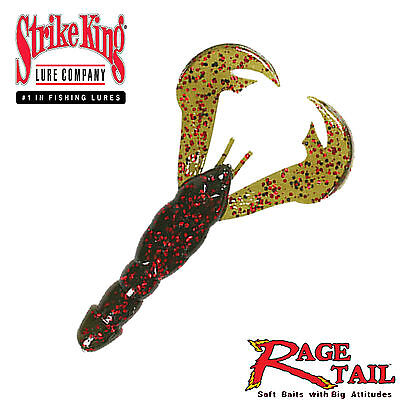 (Strike King Rage Tail Craw Soft Plastic Bait - Select Color(s))