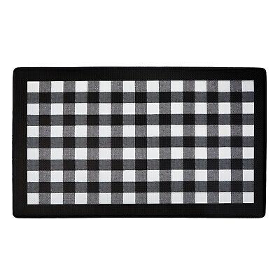 Buffalo Black & White Plaid Memory Foam Anti-Fatigue Kitchen Floor Mat 18