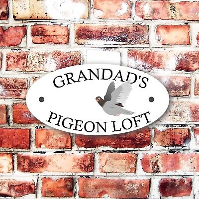 GRANDAD'S PIGEON LOFT OUTDOOR/INDOOR SIGN PRE DRILLED CAGE POLECAT