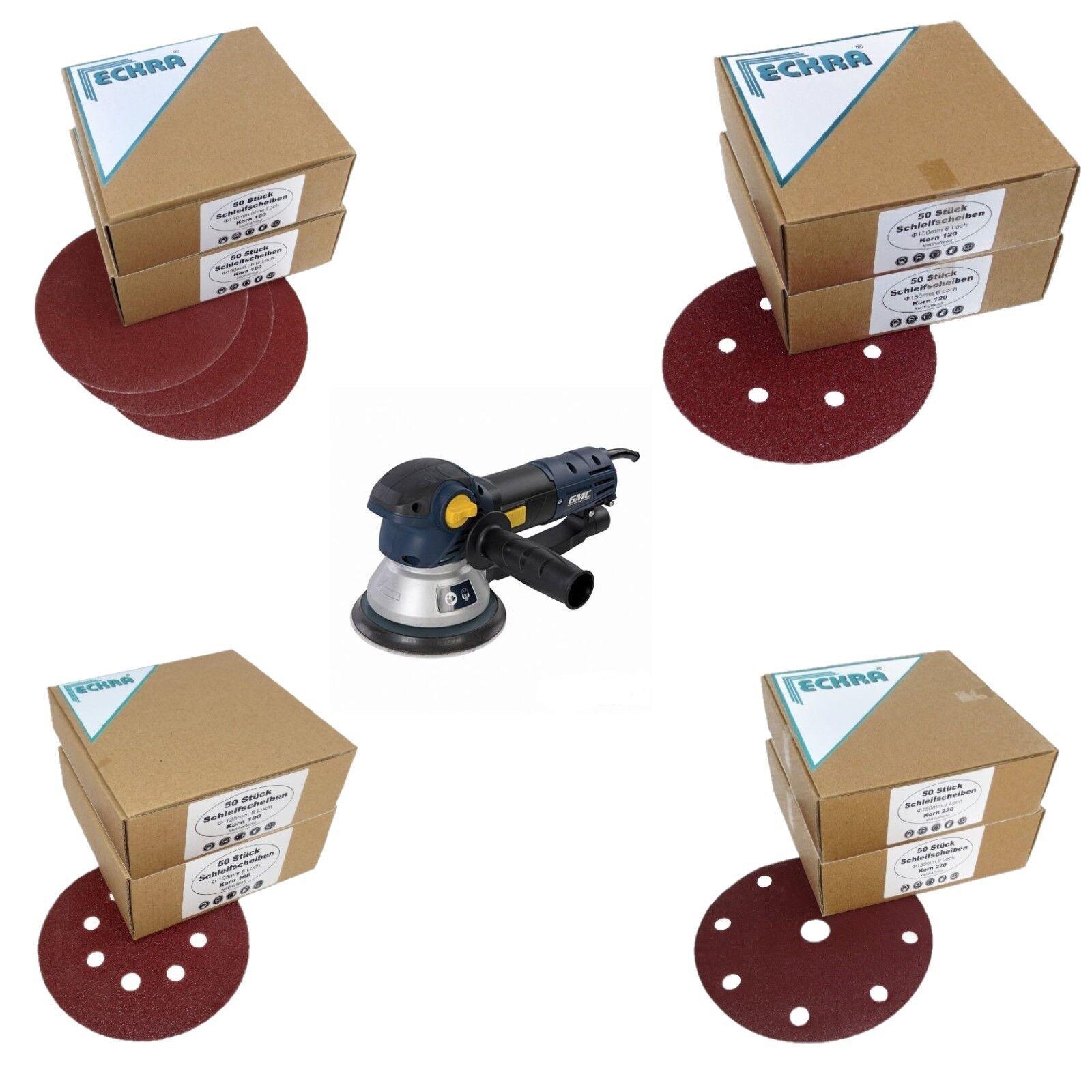 Eckra Schleifscheiben mit Klett Größe 125 150 180mm für Exzenter Schleifmaschine