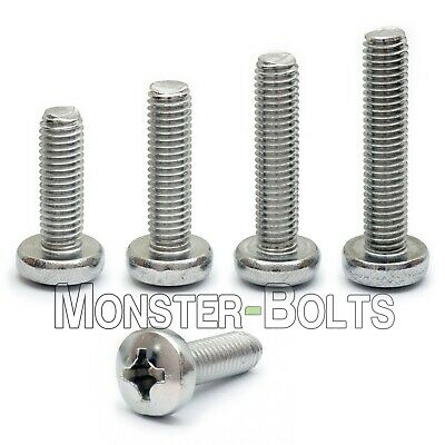 10-32 Phillips Pan Head Machine Screws 18-8 A2 Stainless Steel Sae Fine Thread