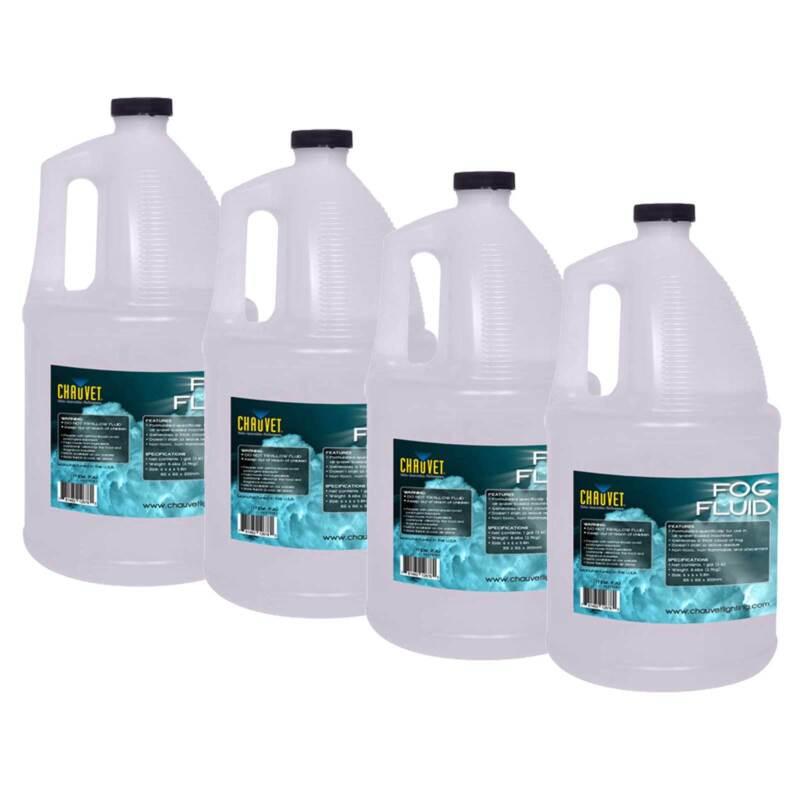 Chauvet DJ FJU Professional Water Based Fog Juice/Fluid Four Gallons