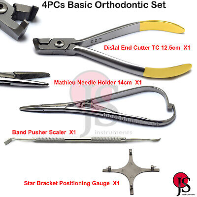 Orthodontic Instruments Surgical Distal Wire Cutter Needle Holder Band Pusher 4x