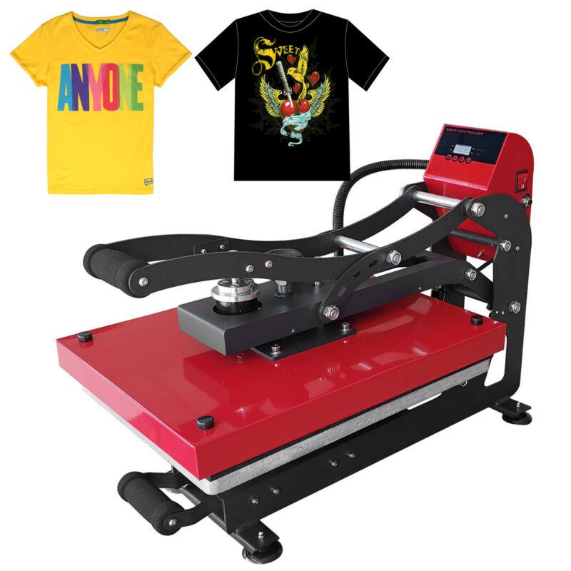 "16"" x 20"" Clamshell Auto Open Heat Press Machine Vertical Puzzle T-shirt Press"