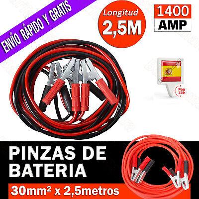 PINZAS CABLE PARA BATERIA DE COCHE MOTO CABLES PUENTE ARRANQUE EMERGENCIA 1400...