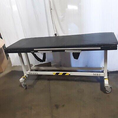 Biodex Mri Table Non-metallic Good Condition Model 240-100 With Locking Wheels