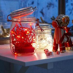 Ikea A Batteria Lucine - Decorazioni Albero Di Natale Illuminazione Catena  eBay