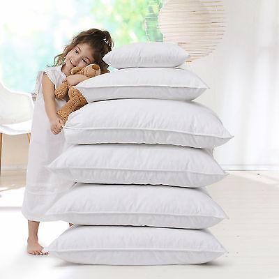 Allergiker Kopfkissen Kissen 60° Wäsche Baumwollbezug Klimafaser 80x80 cm Faser