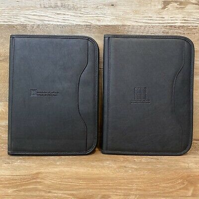 Lot Of 2 - Gemline Black Writing Portfolio Organizer Case Pocket Planners