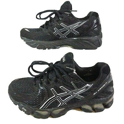 Asics GEL Kayano 17 Running Black Sneakers T150N Women's sz 7 premium [q10]