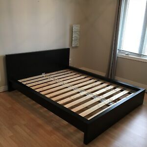 Malm Queen ikea bed frame with slats