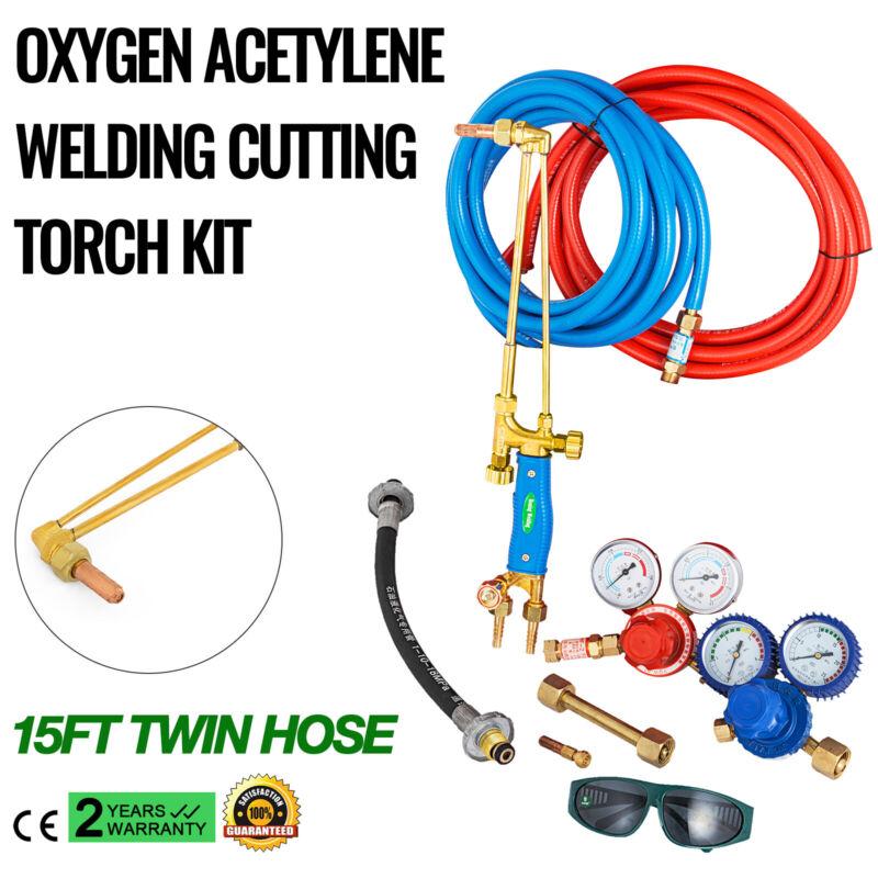 Gas Welding and Cutting Kit | Victor Type Propane Oxygen Torch Set Regulator