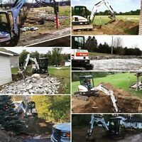 Excavation and Skidsteer Services (Certified and Insured)