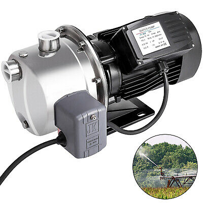 1.0hp 18.5gpm Shallow Well Jet Pump Wpressure Switch 110v Farms Homes 147.6 Ft