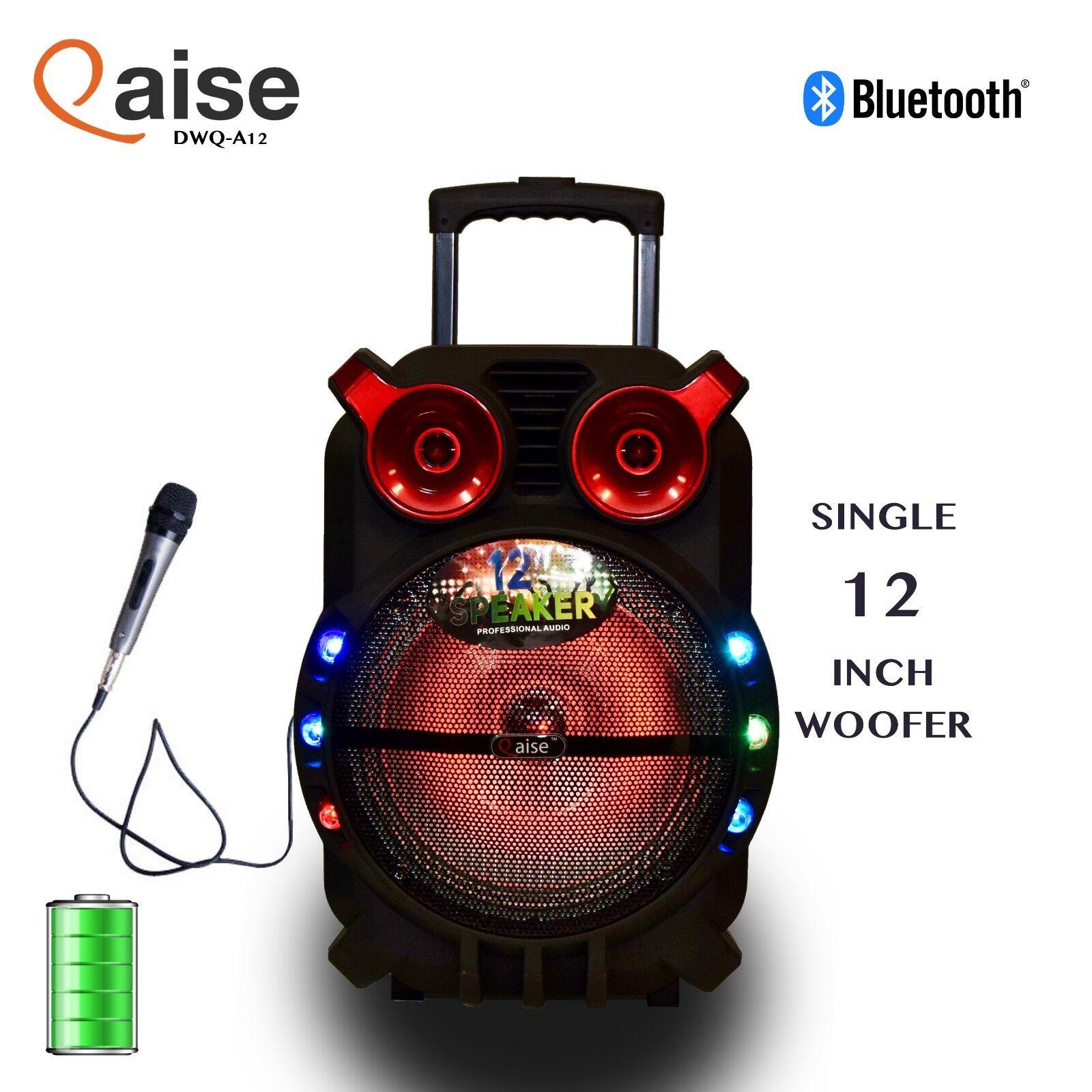 700Watts Portable 12 inch bluetooth karaoke speaker with lig