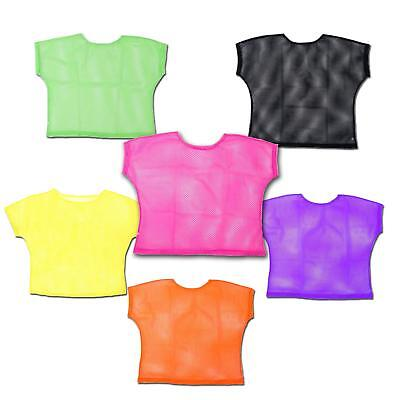 Ladies 80s Style Neon Mesh Tops Theme Fancy Dress Costume Pink Black Green](80 Themed Costumes)