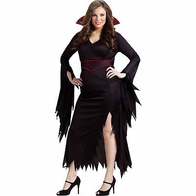 Fun World Classy Vampire Women's Adult Hallween Costume Halloween Costume Dress (Fun Halloween Costumes For Women)