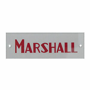 MARSHALL LOGO FOR MARSHALl AMP/PLEXI Silver/red. Screws included.