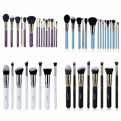 Jessup Makeup 10~15pcs Brushes Set Powder kabuki Foundation Eyeshadow Brush Tool