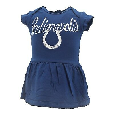 Indianapolis Colts Official NFL Baby Infant Girls Dress-Style Creeper (Fashion Indianapolis)