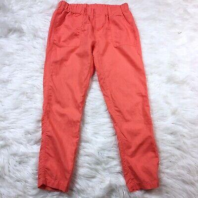 Linen Cropped Capris - Columbia Linen Cropped Capris Pants Size XS Coral Orange 27