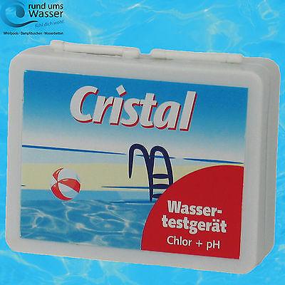 Cl Wasser (Cristal Wassertestgerät pH/Cl Pooltester Chlor + pH Wert DPD1 Pooltest Tester)