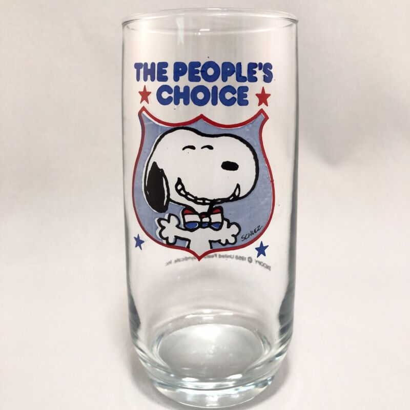 "Vintage Peanuts ""The People's Choice"" Snoopy Glass"
