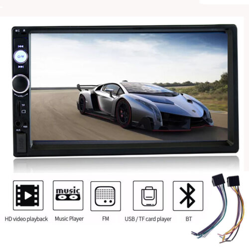 """HD 7/"""" Double 2Din Bluetooth Car Stereo Radio FM//MP5 Player Touch Screen In-Dash"""