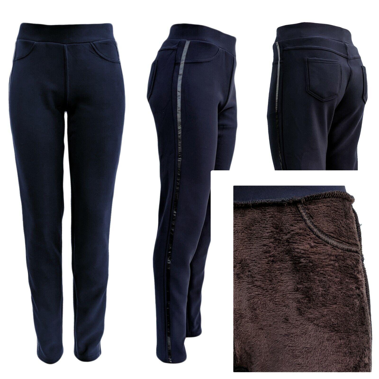 Winterhose Damen Thermofutter - Sweatpants - dicke Jogginghose Trackpants 34-40