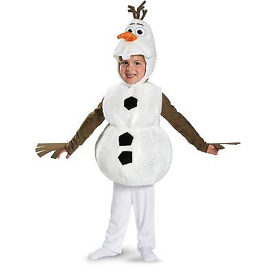 Olaf Costume Boys (NWT DELUXE FROZEN OLAF COSTUME - TODDLER 3T-4T BOYS SMALL 4-6 -)