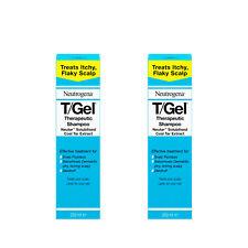 Neutrogena T/Gel Therapeutic Shampoo Treats Itchy, Flaky Scalp Pack of 2 x 250ml