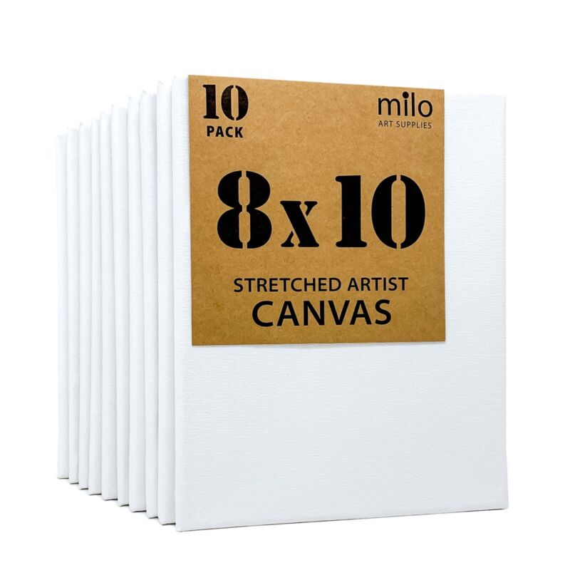 milo Stretched Artist Canvas | 8x10 inches | Value Pack of 10