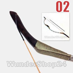 Reiterbogen 38lbs und 3x Fiberglas-Pfeil H2 Mongolisch Recurvebogen Mongol Bogen