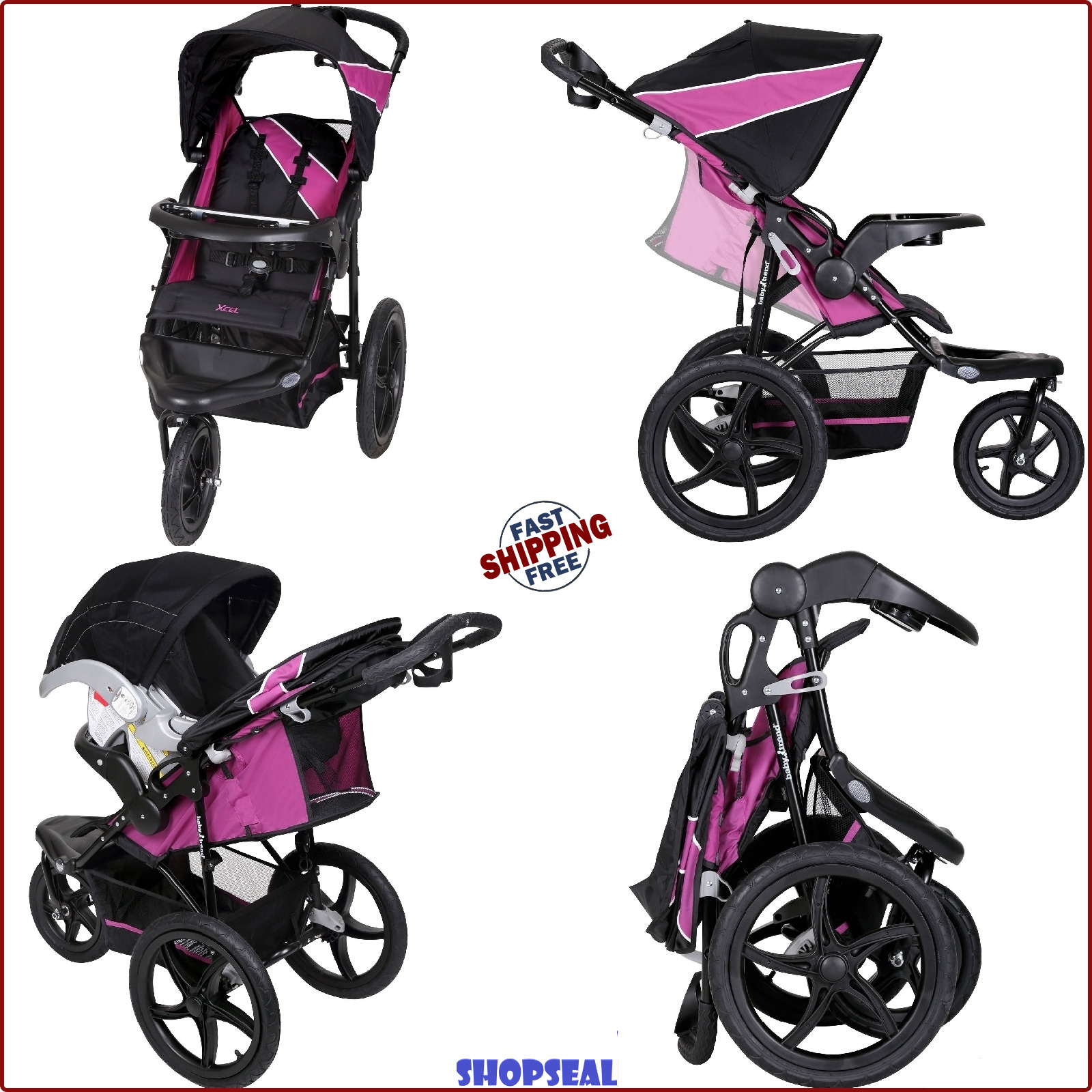 Jogging Stroller Baby Jogger Travel System Pushchair Folding