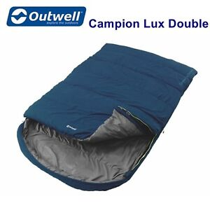 Outwell Campion Lux Blue Double Sleeping Bag  - 3 Season