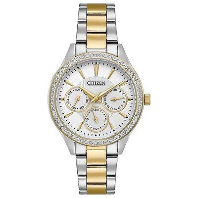 Citizen Women's Quartz Crystal Accents Multi Dial Band 36mm Watch ED8169-55A
