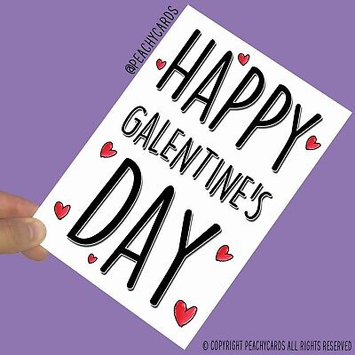 Funny Valentine's Day Cards Happy Galentine's Day Best Friend Bestie Gift (Happy Best Friend Day Funny)