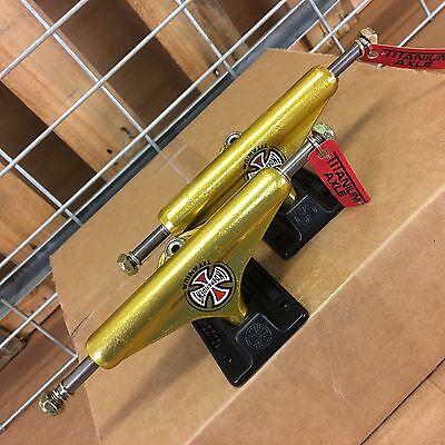 Independent Stage 11 Forged Titanium Gold Standard Skateboard Trucks  Set Of 2