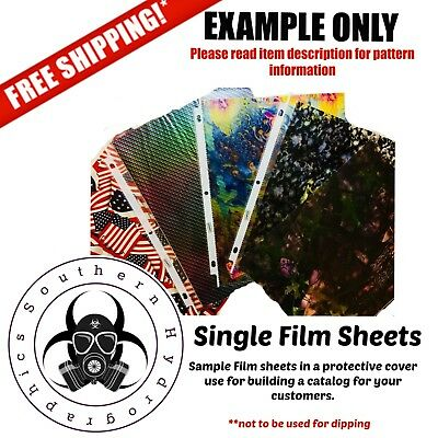 Hydrographic Water Transfer Hydro Dip Single Catalog Sheet Film Carbon Fiber 4