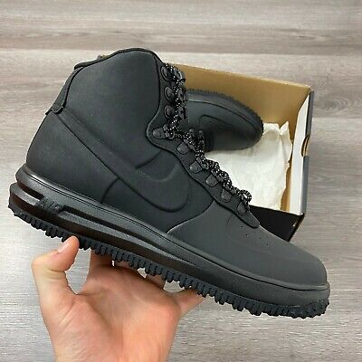 NIKE LUNAR FORCE 1 DUCKBOOT 18 BLACK TRAINERS SHOES SIZE UK 8.5...