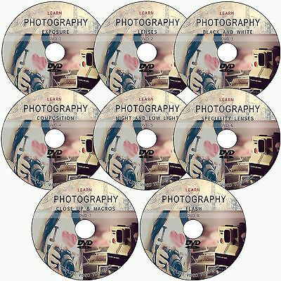 LEARN DIGITAL PHOTOGRAPHY/ MASTER TRAINING 8 DVD VIDEO TUTORIALS DSLR FOUNDATION