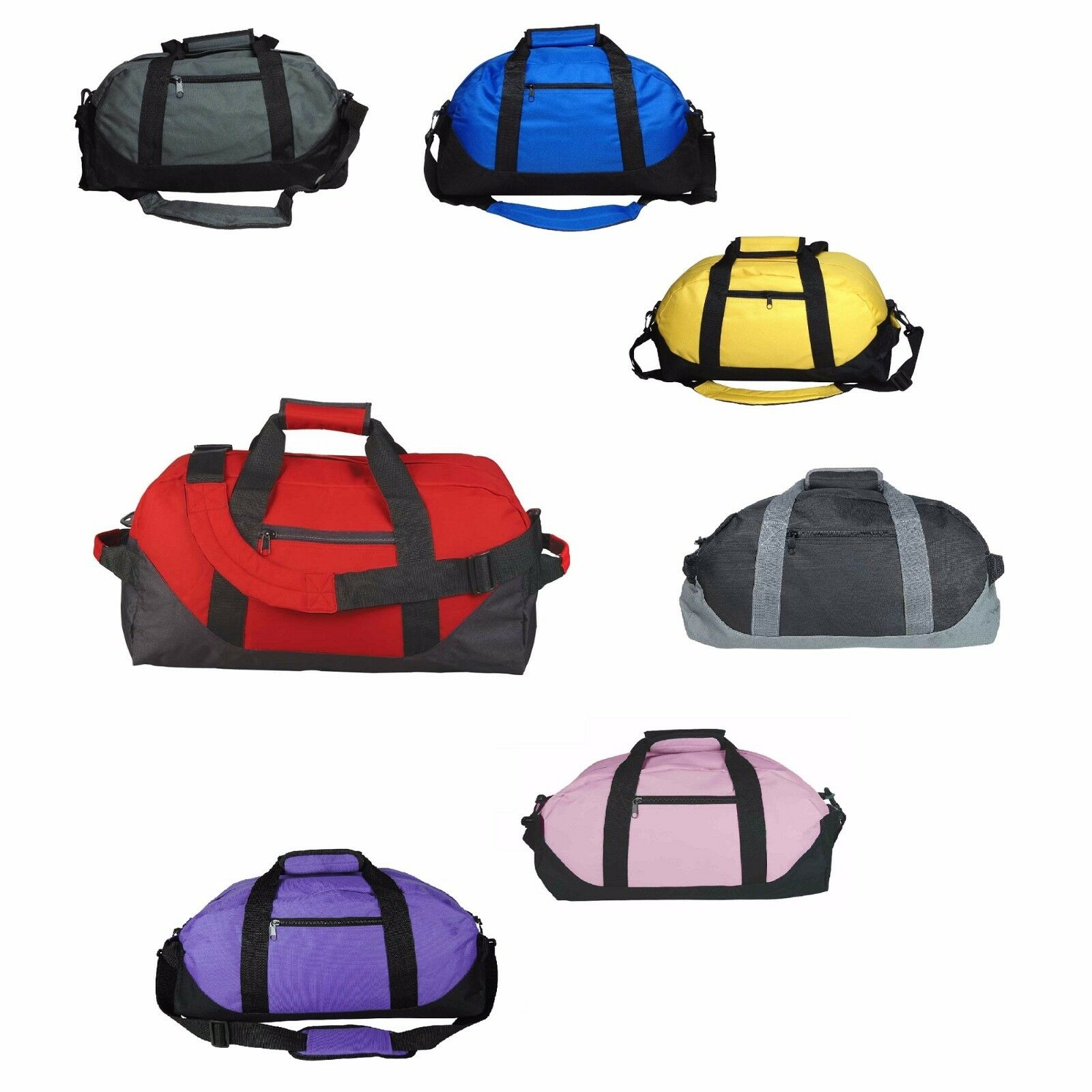 "DALIX 18"" Two Toned Gym Duffle Bag Travel Yoga Medium"