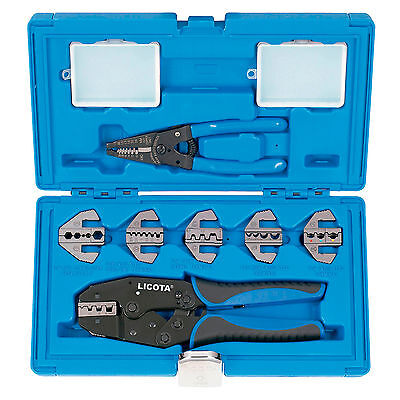 Estuche PROFESIONAL alicates para terminales crimpadora + pelador de cables