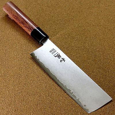 "Japanese Kitchen Nakiri Vegetable Knife 7.1"" VG-10 Damascus 33 Layers SEKI JAPAN"