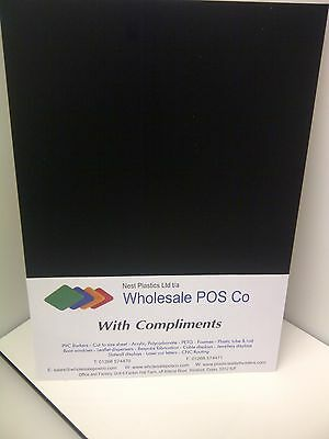 Black Pvc Foam - Foamex Board Ideal For Signs A4 Size 1 Sheet 5mm Thick