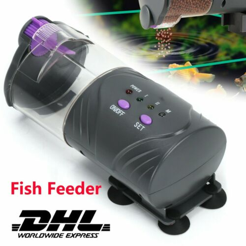 Automatic Fish Feeder Aquarium Futterautomat Futter Food Timer Durchsichtig