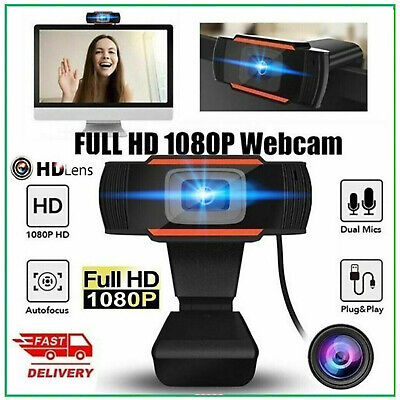 WEBCAM FULL HD 1280x720 PC con microfono skype smartworking video chiamate IT